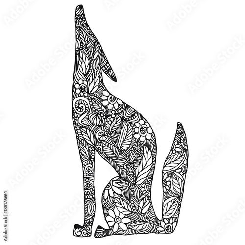 Mexican Alebrije Coyote Coloring Page Stock Image And Royalty Free