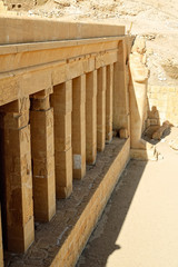 Ruins of Hatchepsut Queen temple in Luxor, Egypt