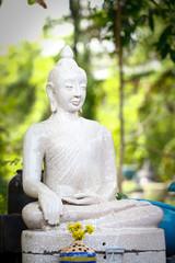 Buddha statue made of terracotta. Handmade Buddha  statue.