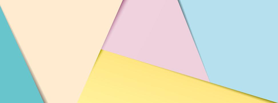 Pastel paper banner