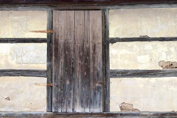 Fachwerk mit Holztür
