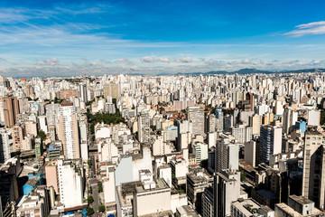 Aerial view Sao Paulo, Brazil