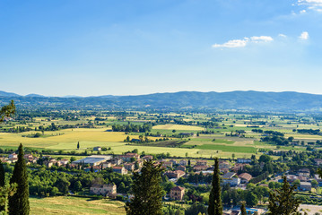 Landscape from a viewpoint in Spello, Umbria