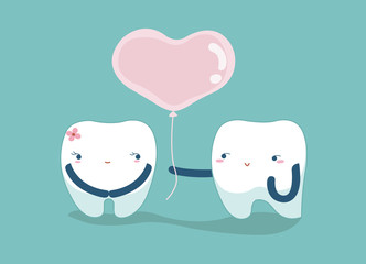 Love your teeth , lover dental concept