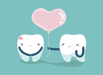 Love your teeth , lover dental concept