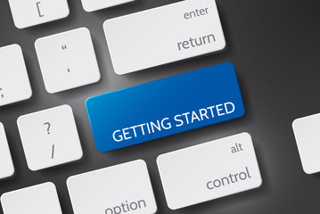 Getting Started. Button keyboard with Getting Started text.