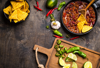 Chili con carne background