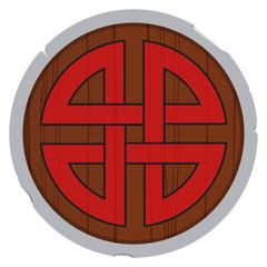 Viking shield vector