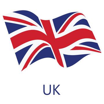 UK flag vector