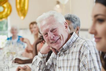 Senior Man at a Birthday Party
