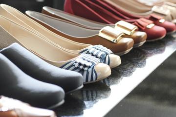 Woman shoes on closet