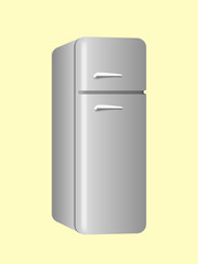 Large steel fridge with 2 compartments