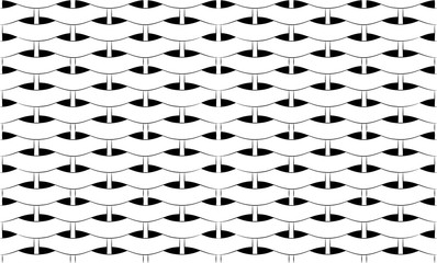 Basket weave pattern of black and white texture
