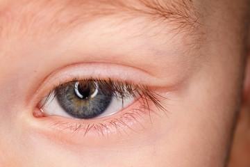 Глаз ребёнка крупным планом
