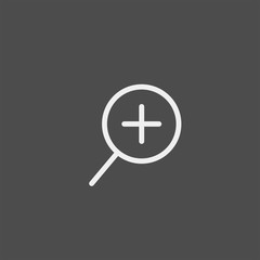 Magnifier flat vector icon