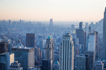 New York City Skyline And Buildings Sunset
