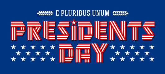 Presidents Day holiday banner. Vector illustration.