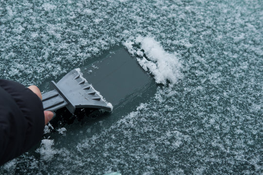 scraping frozen windshield