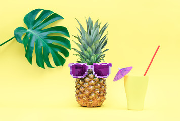 Pineapple funny summer concept
