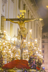 """Float of Christ of the brotherhood of """"El Museo"""""""