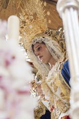 "Float of pallium of the brotherhood of ""San Esteban"""