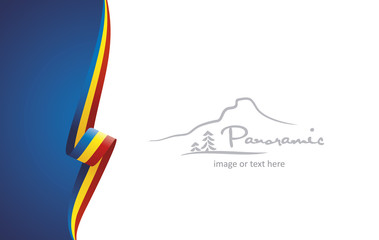 Romania abstract brochure cover poster background vector