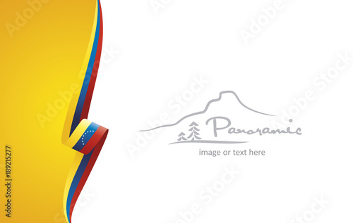 Venezuela Abstract Brochure Cover Poster Background Vector Stock