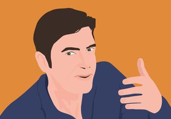 homme - visage - expression - visage - interview -présentation - parler - parole - parlant - discours