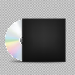 compact disc black cover transparent