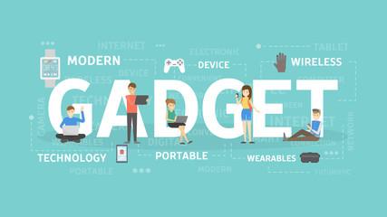 Gadgets concept illustration.