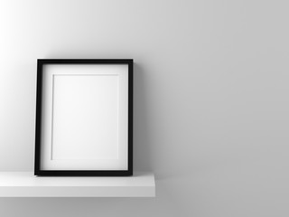 Blank picture frame template for place image or text inside.