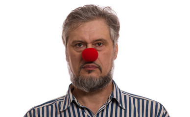 man with a red nose, Red Nose Day