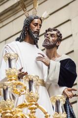 "Float of Christ of the brotherhood of ""El Beso de Judas"""