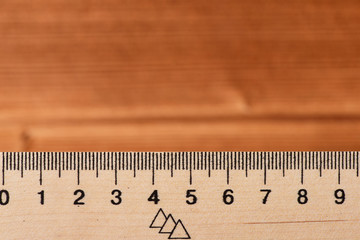 Simple ruler with indicators in form of centimeters.