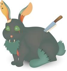 Rabbit zombie art