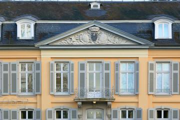 Fassade Detail von Schloß Morsbroich bei Leverkusen