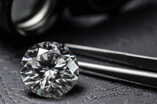Diamond big carat luxury background