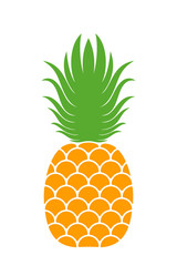 Pineapple logo. Icon. Isolated pineapple on white background