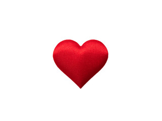 Red mini hearts isolated on white background, Valentine decorations, Various hearts, Clipping path.