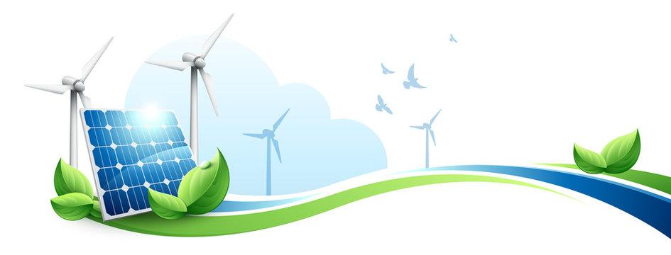 Ecologie Panneaux Solaires Eoliennes