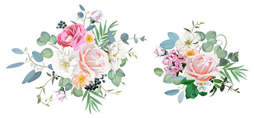 2 bouquets for decoration greeting cards