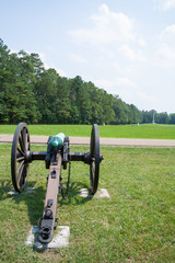 Cannon on battlefield