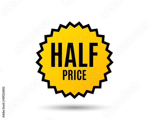 Half Price Special Offer Sale Sign Advertising Discounts Symbol