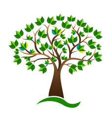 Ecology environmental tree vector