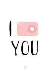 I Love you, I love to make Photos of you card