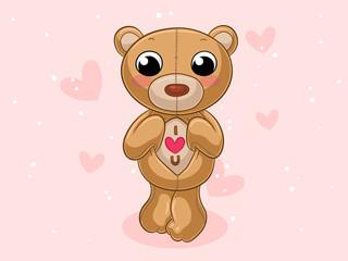 Putziger Comic Teddybär