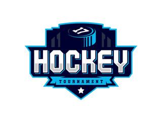 Modern professional hockey logo for sport team