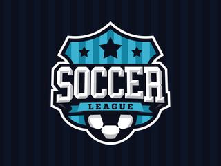 Modern professional soccer logo for sport team