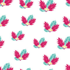 Hand drawn tropic seamless pattern