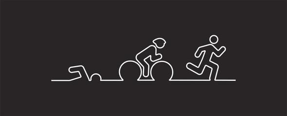 Vector illustration triathlon, flat design